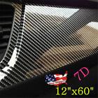 Carbon Fiber Vinyl Wrap Film Interior Control Panel Decals Car Parts Stickers