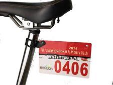 Bicycle Number Plate Mount Holder for Road Bike Triathlon Race Card Bracket