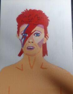 A4 canvas Painting David Bowie ziggi stardust