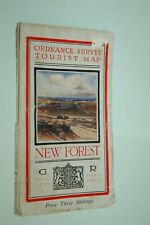1933. Ordnance Survey Map New Forest. Arthur Palmer Illustration