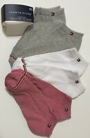 Tommy Hilfiger Women's  6-Pair Low Cut Socks 6-9.5  Pink/White/Gray Cushion Sole