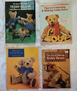 Lot of 4: Teddy Bear Books - Catalog, Repair, Making, Collecting +