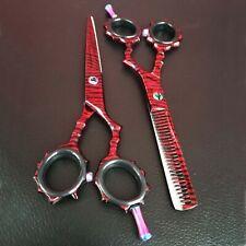 "Tijeras peluqueria profesional 5.5"" set negro mate con tijeras de adelgazamiento"