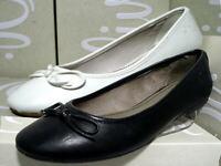 S.Oliver Ballerinas Slipper Damenschuhe schwarz weiß 5-22108-20 36 - 42 Neu30