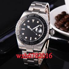 43mm Black dial sapphire glass mechanical Date automatic men Wristwatch 087