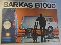 Verkaufsprospekt  BARKAS  B 1000  /(2) DDR Barkas-Werke Karl-Marx-Stadt