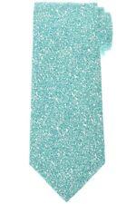 Isaia Silk Cotton Tie Green Print Solid 06TI0295 $230