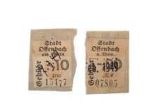 2 Municipal Revenue Stamps Offenbach Germany