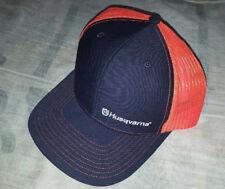 HUSQVARNA®  logo dark blue/orange hat/baseball cap NEW!