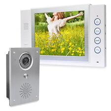 Video Türsprechanlage Bildspeicher 110° Sichtwinkel Kamera Nachtsicht Unterputz