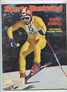 Sports Illustrated Franz Klammer Downhill Skier Olympics 1976 Innsbruck