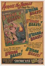 Original 1967 Comic Book Preview Ad for Dc Showcase #66 1st App of B'Wana Beast