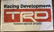 TRD White Flag 3x5 Toyota Racing Development Banner  Motor Sports Car Garage
