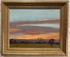 "Original Oil Painting by G Reni ""Kangaroo Ground Sunset"" Signed lower Left"
