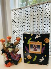 New ListingFitz & Floyd Halloween Witch Candlelabra New With Box 1995 *Perfect*