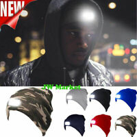 Winter Unisex LED Beanie Hat With Rechargeable Battery Head Light Warm Hats