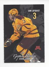 2008-09 Minnesota Golden Gophers Sam Lofquist (Linköping Hc)