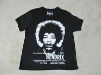 Jimi Hendrix Concert Shirt Adult Medium Black White Rock Tour Music Band Mens