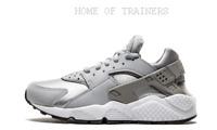 Nike Air Huarache Run Wolf Grey White Black Girls Women's Trainers (PTI)