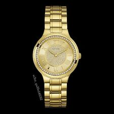AUTHENTIC GUESS LADY MADISON GOLD TONE WATCH W0637L2 RRP:$399  Brand New *Dent