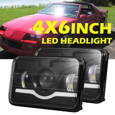 """4x6"""" 75W CREE LED Headlight Projector Sealed High/Low/Red Beam DRL for Chevrolet"""