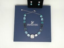"""Authentic Swarovski """"EFFUSION"""" Set Crystal Necklace and Earrings   New in Box"""
