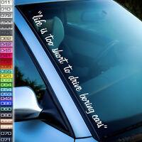 life short Aufkleber boring cars Tuning sticker dream i love my  F47