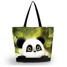 Panda Women Travel Shopping Bag Shoulder Tote Handbag Folding Reusable Eco Bags