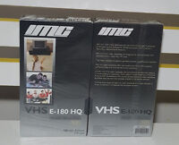 IMC BLANK VIDEO TAPES X2 180 MINUTES 3 HOURS SEALED IN PLASTIC!