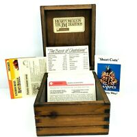 Vintage Hearty Meals Recipe Collection - 330 Recipes & Wooden Box Case