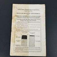 United States Department of Agriculture Markets Grain Wheat Announcement 1918