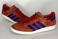 50c65db19db3 Adidas Handball Spezial Red Shoe US Size 8 1 2 Red Suede And Blue Leather