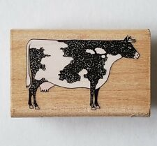 Charles Wysocki Americana Cow Rubber Stamp Stampede #349-D Black White Holstein
