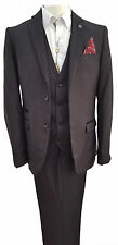 Viscose Single Textured Suits & Tailoring for Men 32L