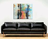 48x36 Original Abstract Art - Colorful Modern Abstract Painting - US Artist