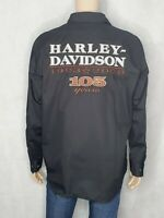Harley-Davidson Men's 105 Years Jet Black Long Sleeve Shirt Mens Size Large