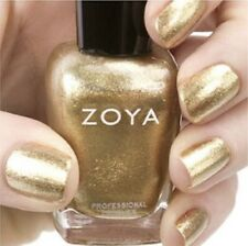 ZOYA ZP644 ZIV metallic gold foil with silver & gold glitter nail polish lacquer