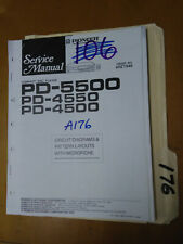 Pioneer pd-5500 4550 4500 Service Manual Original Repair Book Stereo
