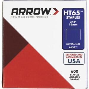 40 Pk Arrow HT65 High-Performance Hammer Tacker Staple, 3/4 In Length (600-Pack)