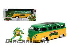 Jada 1 24 Hollywood Rides 1962 VW Bus & Leonardo Figure 31786 Diecast Model Car