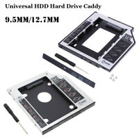 Aluminum DIY HDD Bracket SATA 2nd SSD Hard Drive Caddy CD/DVD-ROM Optical Bay