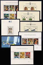 1988 Portugal, Azores, Madeira Complete Year MNH. 8 Souvenir Sheets, Blocks.