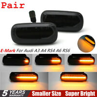 1Pair Dynamic Flowing LED Side Marker signal Light for Audi A4 S4 B6 B7 A6 C5 TT