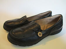 10M Naturalizer Slip On Womens shoe Radder Black Leather Upper Comfort 10 M 41.5