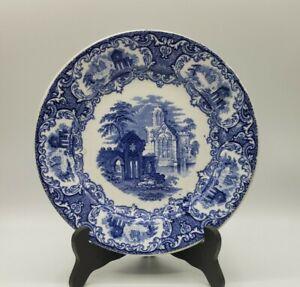 Petrus Regout Abbey Luncheon Plate Flow Blue Transferware Maastricht Holland