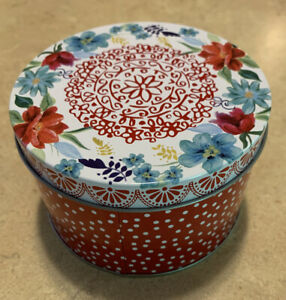 Pioneer Woman Small Decorative Tin Canister