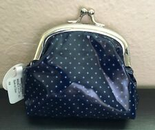Coin Purse Navy and White Polka Dot Change New Girl's