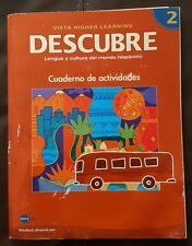Descubre 2 Lengua y cultura del mundo hispanico Cuaderno de actividades 08 editi
