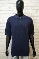 Polo RALPH LAUREN Maglia Taglia 2XL Uomo Shirt Maglietta Manica Corta Hemd Blu
