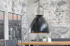 Hängelampe INDUSTRIAL Chic Schwarz Silber Metall Nickel Used Look Fabrik Loft